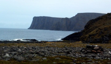 Pohled z Nordkappu