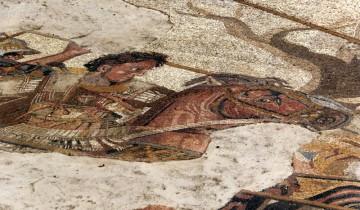 Slavná mozaika zobrazující Alexandra Makedonského